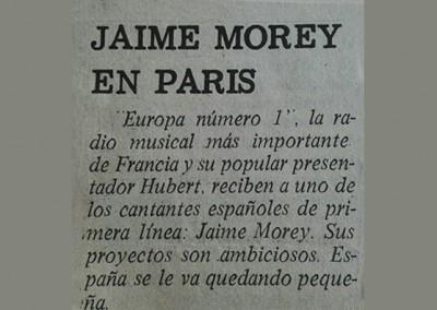 Jaime Morey - En Paris