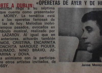 Jaime Morey en Pasaporte a Dublin