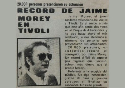 Jaime Morey - Record Tivoli